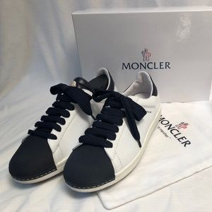 MONCLER Angeline leather sneakers, Navy Blue
